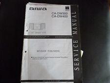 ORIGINALI service manual AIWA ca-dw300 ca-dw400