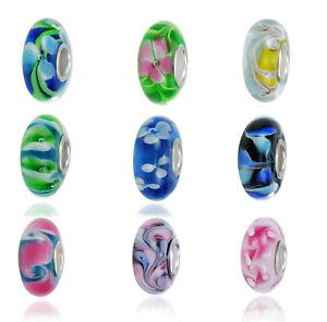 Beads Muranoglas Ansehenswerte Beads 925 Silber Bead für Armband Padora Art Aron