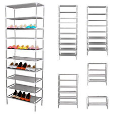 2/4/6/8/10 Tier Shoe Storage Shelf Rack Organiser 6/12/18/24/30 Pairs Shoes