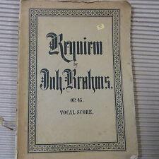 vocal score BRAHMS Requiem Op 45