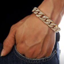 18K Gold Diamant Armband Armreif Luxus Herren Neu Chain Bracelet Bangle New
