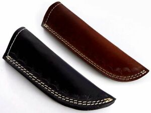 Handmade real leather sheath pouch cover case holder for folding knife new 1691