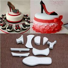 9Pcs High-Heeled Shoes Fondant Cake Mold Cutter Sugarcraft Mold Decorating Tools