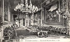 Windsor Castle. The Grand Reception Room # 937 by LL / Levy. Black & White.