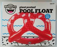 Big Mouth Inflatable Pretzel Swimming Pool Float Tube Lounge - Red