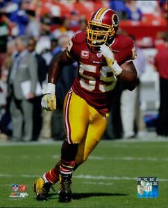 London Fletcher Washington Redskins NFL Licensed Unsigned Glossy 8x10 Photo A