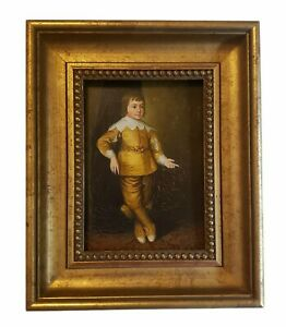 Stunning Rare Painting Of King Charles I Of England Oil On Canvas Signed