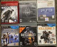 Lot of 6 Sony Playstation 3 PS3 Games Bundle Killzone,battlefield,watchdogs..