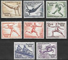 Germany Third Reich Mi# 609-616 MH Summer Olympic Games, Garmish 1936 *