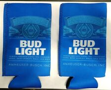 Bud Light Beer Koozies - For 24 oz. or 25 oz. Cans - Neoprene (Cold) - Set of 2