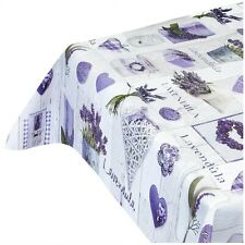 Tovaglia ANTIMACCHIA lavanda copri tavolo cucina plastificata cerata più misure