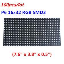 100pcs/lot High-definition LED Display LED Matrix Panel P6 16x32 RGB SMD 3 in 1