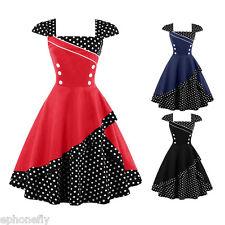 Women PLUS SIZE 1950s 1960sParty Prom Tea Rockabilly Swing Vintage Dress