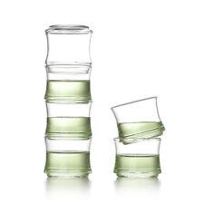 50ml 1.7oz  Heat Insulated Handmade Clear Glass Tea Cup Bamboo Gongfu Tea Mug