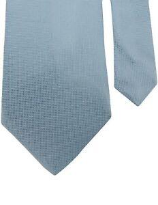 "Banana Republic Men's 100% Silk Neck Tie Mini Grid Light Blue Multi 3 7/8"" x 58"""
