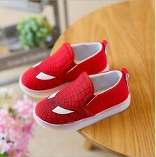 Kids Shoes With Light Boys Led Sneakers New Spring Spider-Man Batman Superman