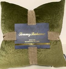 "TOMMY BAHAMA  Set of 2 Autumn Fall Decorative Pillows, Olive Green (20""X20"")"