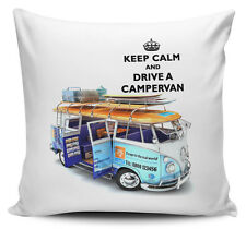 Keep Calm And Drive A Campervan Cushion Cover - 40cm x 40cm - Brand New