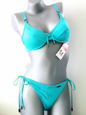 TRIUMPH Ensemble bikini - 75 C + 36 TANGA - TURQUOISE COL 2921/7R NEUF