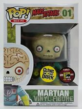 Funko Pop! Movies Mars Attacks 2012 Sdcc 480 Le Glow Martian #01 + Popshield Htf