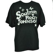 Soulman Rocky Johnson Mens Black Basic Cotton Blend Tshirt Wrestler Short Sleeve