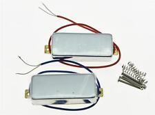 Chrome LP Closed Mini Humbucker Pickup Set Sealed Mini Pickups for Les Paul
