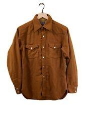 PENDLETON Vintage Western Camel Brown Wool Pearl Button Shirt Mens (M) RARE!!!