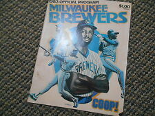 Old Vintage 1983 Official Program Milwaukee Brewers Chicago White Sox Magazine