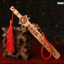 Chinese Feng Shui peach wood Ba gua dis-evil sword Protect Lucky avoid evil