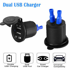 12V Car Cigarette Lighter Socket Splitter Dual Usb Charger Adapter Power Outlet