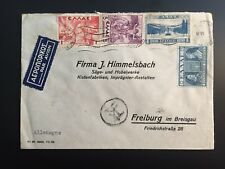 GREECE 1939 air mail cover Athens to Freiburg Germany
