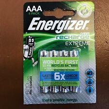 4 X Pilas Recargables Energizer AAA EXTREME 800 mAh pre Cargada NiMH LR03