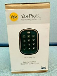 Yale YRD136-ZW2 ProSL  Z-Wave Plus Key Free Push Button Smart Deadbolt lock NEW