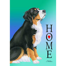 "Bernese Mountain Dog ""Home"" Decorative Flag"