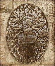 Russel brennan:Coat of Arms II Imagen TERMINADA 50x60 Mural ESCUDO ANTIGUO