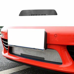 For Porsche 718 2016-2021 Black Steel Front Bumper Center Hood Grill Mesh 1PCS
