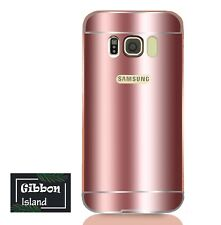 Samsung Galaxy S8 Plus Case - rose gold metal shell w/ free screen protector