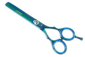 Modelling Scissors Thinning Hair Right Ca 14 CM 5 Inches Metallic Blue