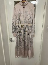 Ted Baker doxie everglade floral midi dress in pink size 4/uk14