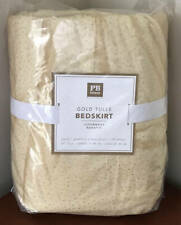Pottery Barn Teen Gold Tulle Girls Bed Skirt ~ Queen