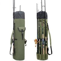 Fishing Rod Pole Bag For Carrying Outside Mount Folding Travel Camping Storage