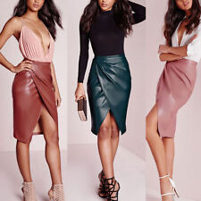 Faux Leather High Waist Skirts for Women