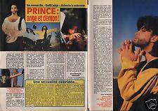 Coupure de presse Clipping 1990 Prince  (2 pages) ange & démon