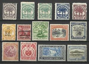 SAMOA 1895-1952 SMALL SELECTION X 14 MINT