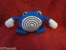 1 Pokemon Stofftier:Quaputzi(Poliwhirl)/Plush/Pokeball/reversible/7cm/gebraucht