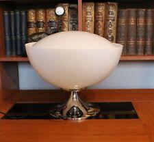 Harvey Guzzini by Meblo Lamp / Vintage White Table/Desk Lamp / UFO Lamp /1970s