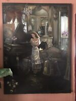 Shabby Chic Style Exquisite Original Oil Painting