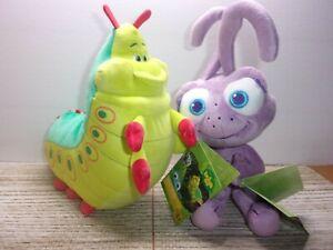 "Pixar Disney Store exclusive Bug's Life 12"" HEIMLICH & DOT stuffed plush"
