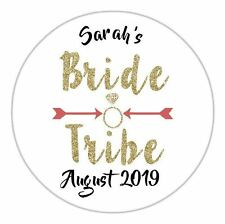 24 Personalised Bride Tribe Hen Do Night Party Weekend Stickers Label Seals DE14
