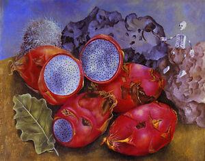 Frida Kahlo Still Life With Pitahayas Canvas Print 16 x 20    #4709